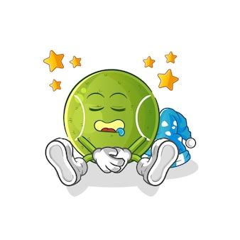 Personnage endormi de tennis.