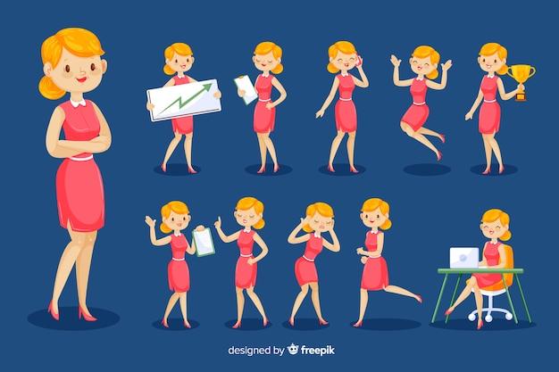 Personnage de femme d'affaires 3d