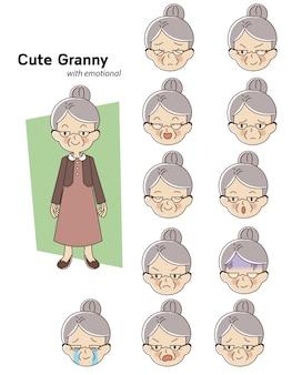 Personnage de femme âgée
