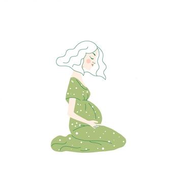 Personnage femme enceinte sentiment baby kick