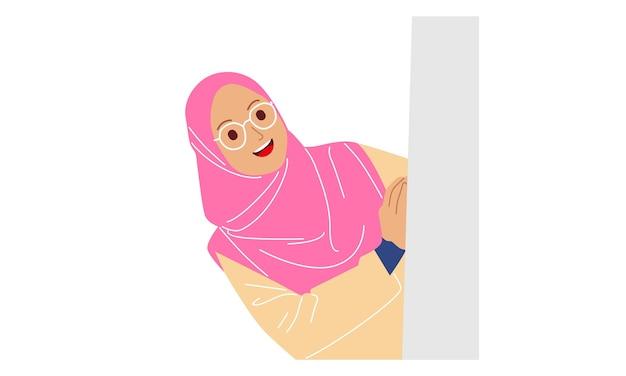 Personnage de femme hijab