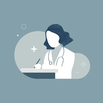 Personnage de femme médecin