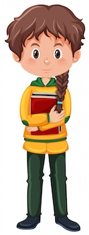 Un personnage de fille étudiante