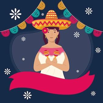 Personnage de fille mexicaine