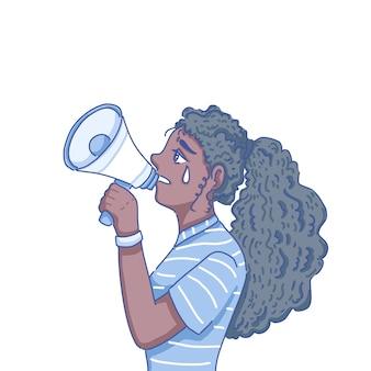 Personnage de fille noire