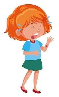 Un personnage de fille pleure