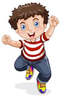 Un personnage de garçon heureux