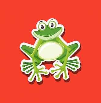 Un personnage de grenouille animal
