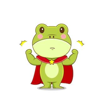 Personnage de grenouille comme un héros isolé