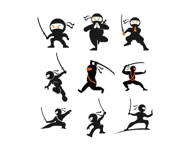 Personnage guerrier samouraï ninja