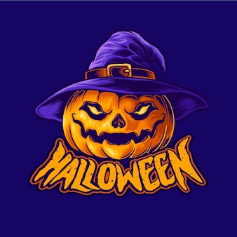 Personnage d'halloween tête de jack o lantern