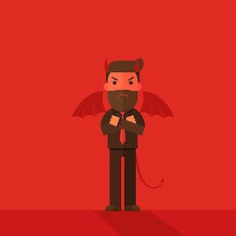 Personnage d'homme d'affaires de diable