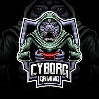 Personnage de jeu cyborg logo esport