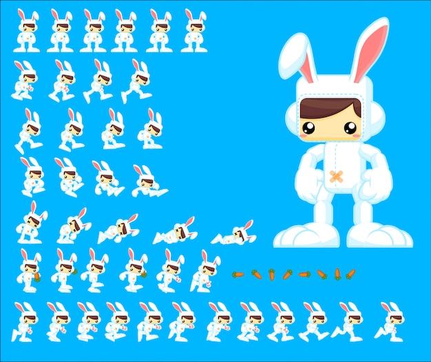 Personnage de jeu de lapin