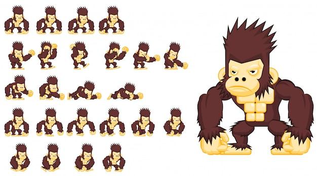 Le personnage de jeu de singe