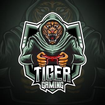 Personnage de jeu tigre logo esport