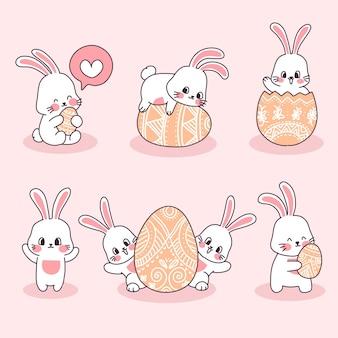Personnage de lapin de pâques