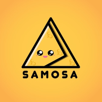 Personnage de logo mascotte samosa