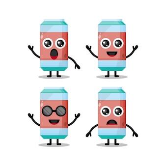 Personnage de mascotte de boisson gazeuse mignon