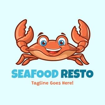 Personnage de mascotte de crabe