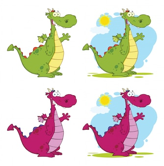 Personnage mascotte dragon