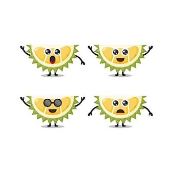 Personnage mascotte durian mignon