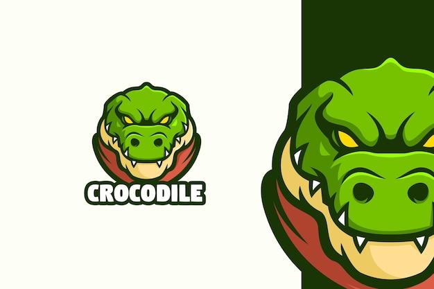 Personnage de mascotte de logo de tête de crocodile