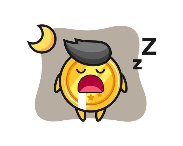 Personnage de médaille dormant la nuit