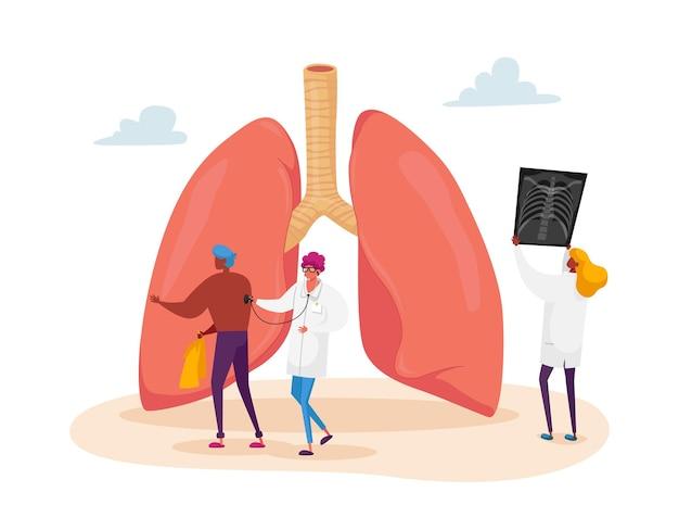Personnage de médecin professionnel tenant la radiographie