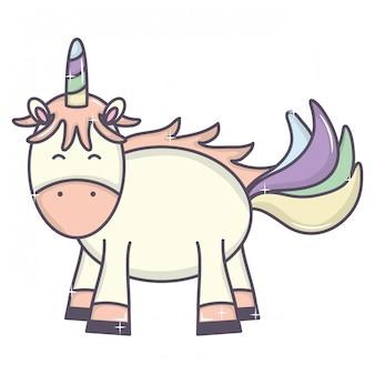 Personnage mignon adorable fée licorne