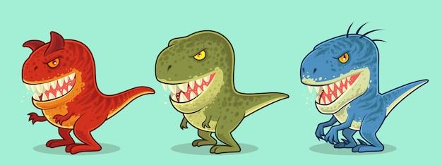 Personnage mignon de dinosaures