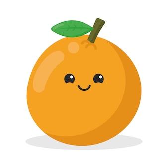 Personnage mignon de kawaii orange