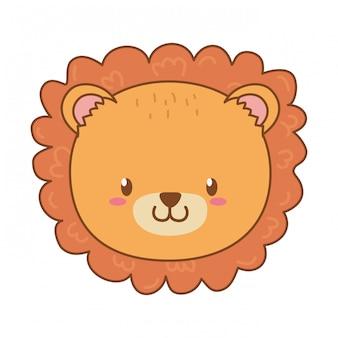 Personnage mignon lion des bois