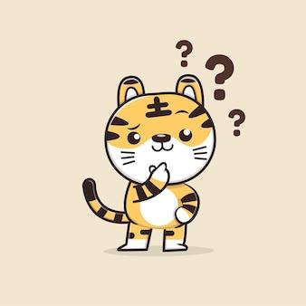 Personnage mignon de tigre animal