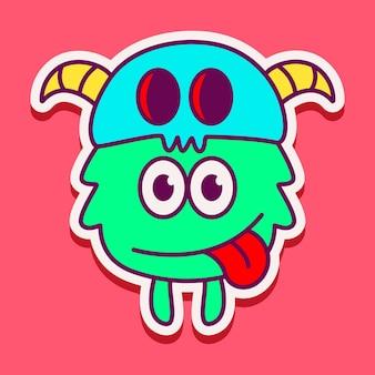 Personnage de monstre mignon