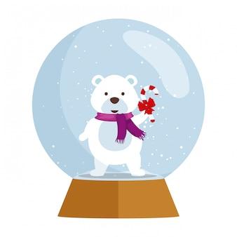 Personnage de noël ours mignon