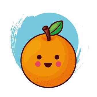 Personnage orange kawaii