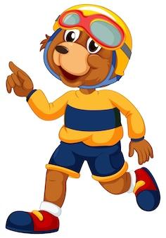 Un personnage d'ours mâle