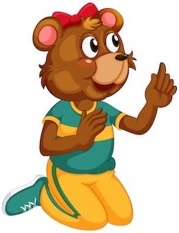 Un personnage d'ours mignon