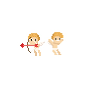 Personnage pixel cupidon