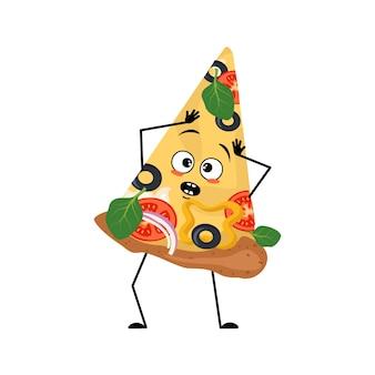 Personnage de pizza mignon