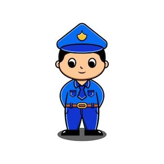 Personnage policier mignon