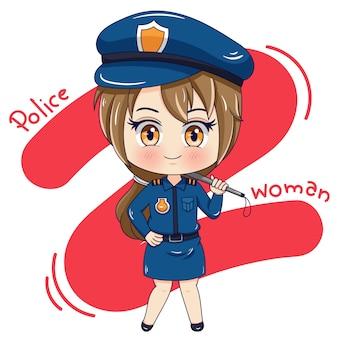 Personnage de policière