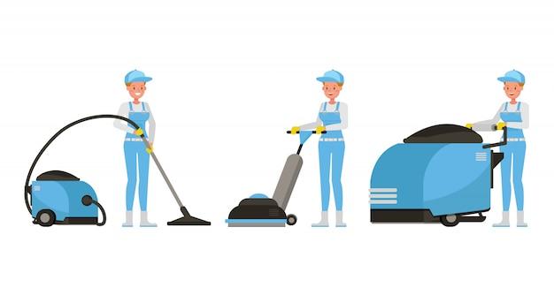 Personnage professionnel de femme de ménage