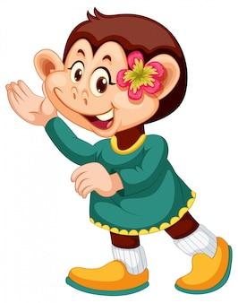 Un personnage de singe mignon