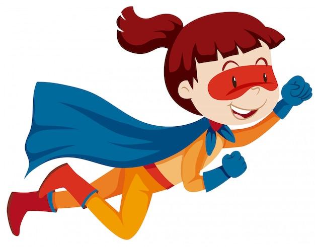 Un personnage de super héros féminin