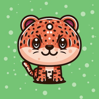 Personnage de tigre mignon