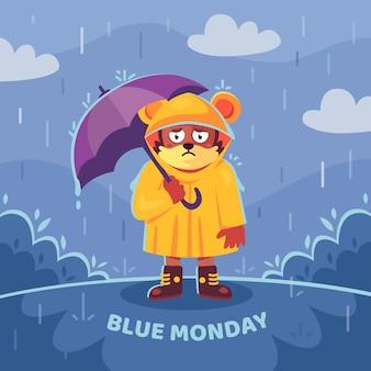 Personnage triste le lundi bleu