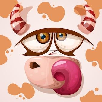 Personnage de vache mignon