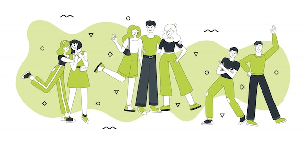 Personnages d'amis vector illustration